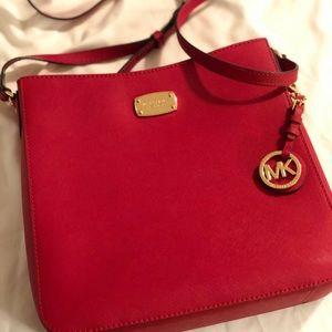 Michael Korda red cross body bag hand bag